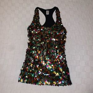 Sparkly sequined tank.